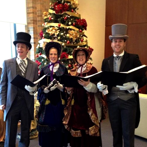 Carolers add holiday cheer to special events