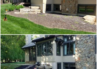 Flagstone/Mulch -Before & After