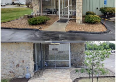 Flagstone Patio -Before & After
