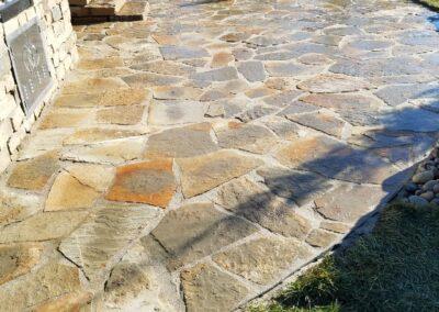 Flagstone Patio & Outdoor Kitchen