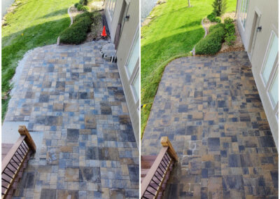Paver Patio - Before & After