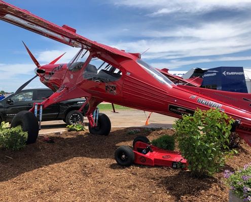 Red experimental STOL Bush airplane