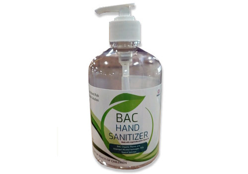 BAC hand sanitizer