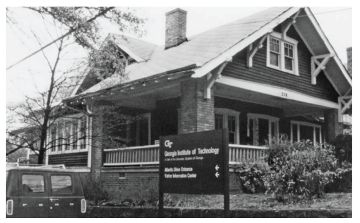 Ted's Hill's Craftsman bungalow on Georgia Tech Campus
