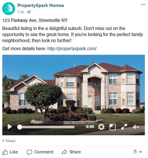 Real Estate Video Marketing Facebook