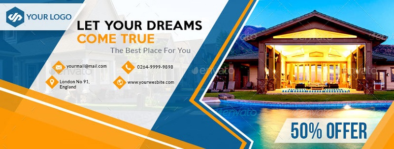 Real Estate Facebook Cover Example