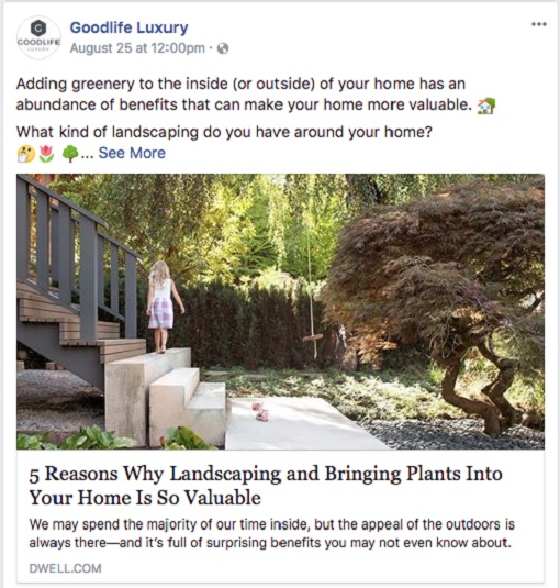 Real Estate Facebook Post Ideas