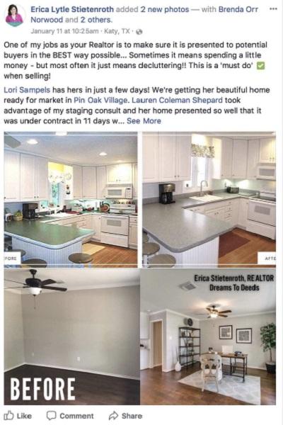 Realtor Facebook Post Example