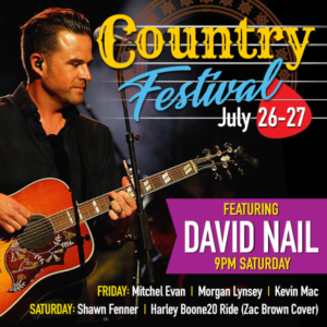 COUNTRY FESTIVAL: JULY 26