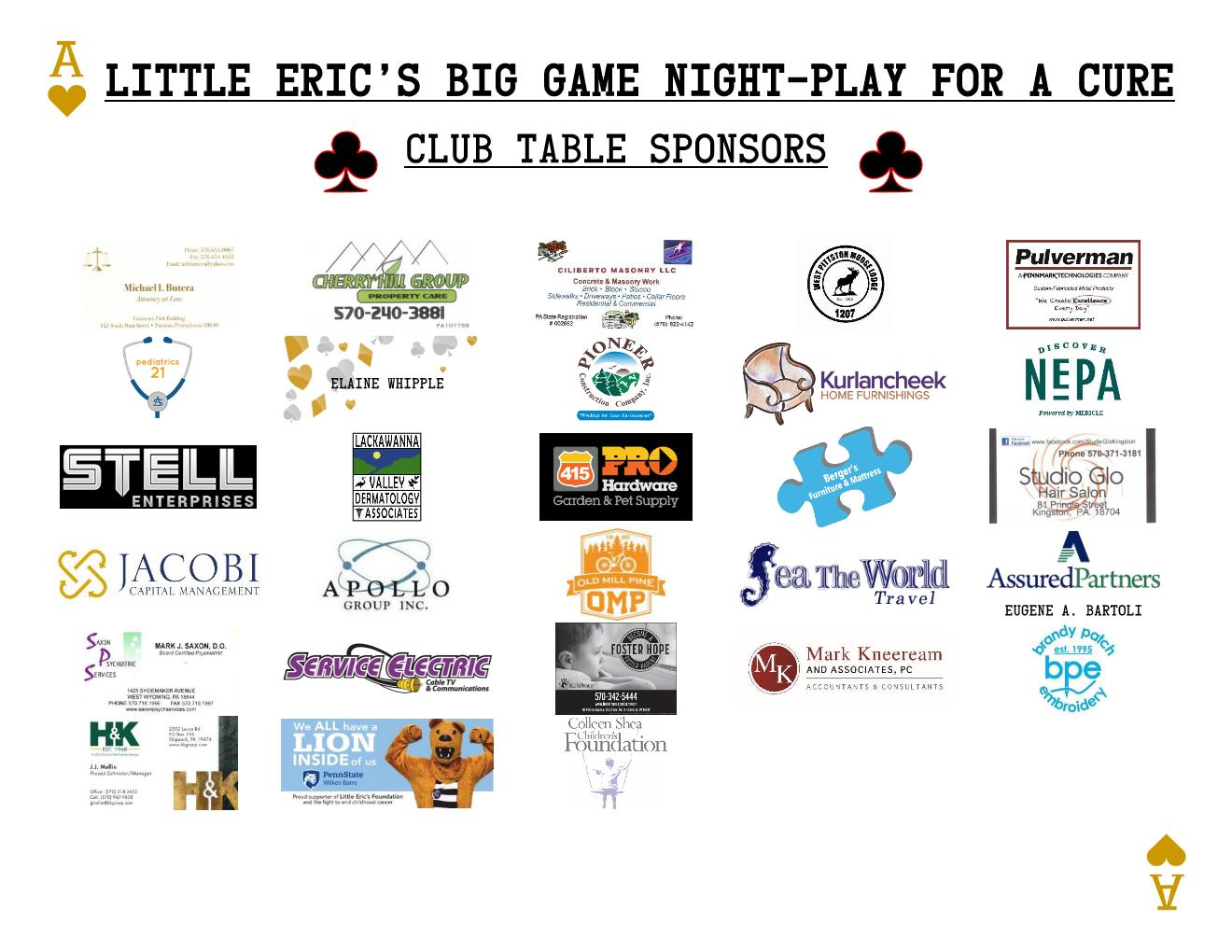 100 Club Sponsor Board 2021