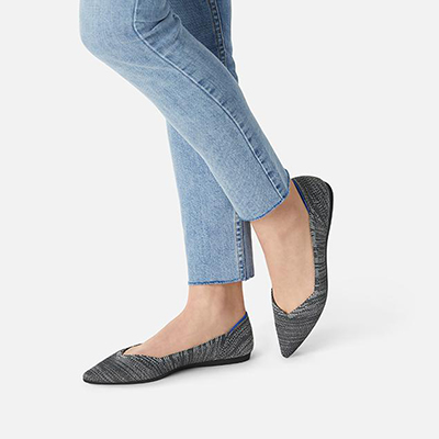 Rothy's Shoes 20% Teacher Discount - Granite Heather point shoes