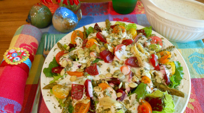 Creamy Salad Dressing Recipe (For Green Salad, Broccoli Salad, Macaroni Salad) Gluten-Free, Vegan, Egg-Free, Dairy-Free, Soy-Free, Nut-Free, Pepper-Free