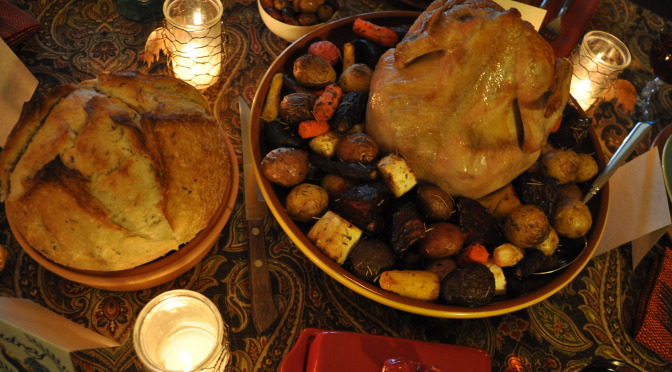 """Healthy """"One-Pot"""" Cocorico Roasted Chicken (or Turkey) & Root Vegetables Recipe"""