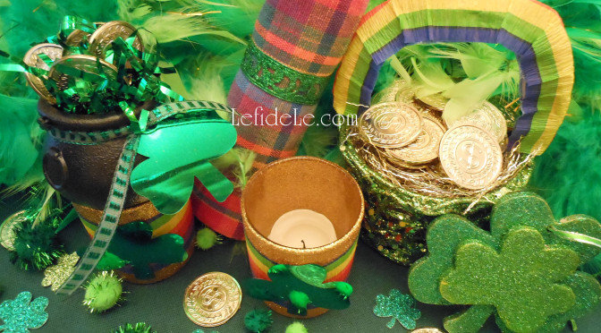 Quick & Easy Metal Napkin Rings, Money Tree, + Rainbow & Shamrock Crafts for St. Patrick's Day Party Décor