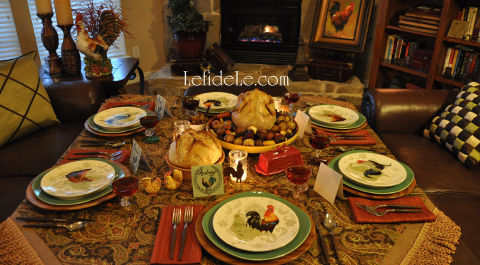 Last Minute Cocorico Rooster Theme Dinner Party Décor Ideas (+ Free Printables)