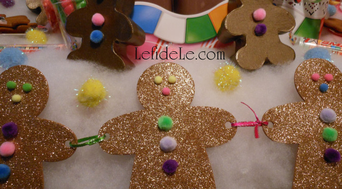 DIY Candyland Party Themed Craft Tutorial: Gingerbread People Banner, Treat Gift Boxes, & Printables