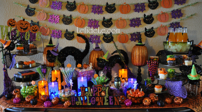 """""""Glitter-Ween"""" Halloween Party Theme Decorating Ideas (With DIY Links)"""