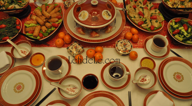 Chinese New Year of the Sheep / Ram Party Décor Ideas (With Formal Table Setting & Kid's Table)