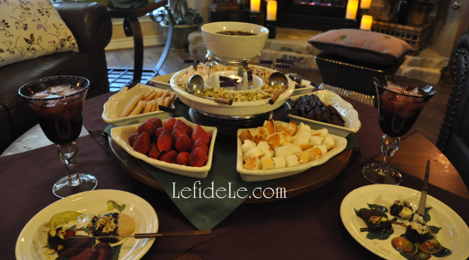 Quick & Easy Informal Gathering Fondue Dessert Party Idea