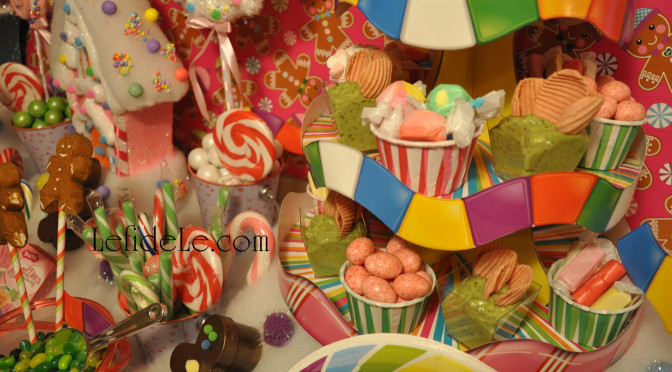 DIY Candyland Party Themed Craft Tutorial: Game Board Treat Tower & Easy Buffet Display