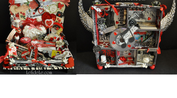 How to Make an Assemblage Sculpture (= 3D Collage) for Your Valentine (Art Instruction / Craft Tutorial)