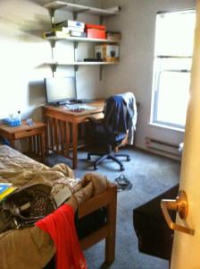 glam dorm room