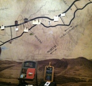 map of napa wine country