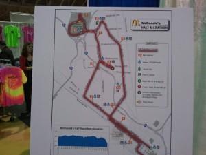 Richmond Half Marathon course