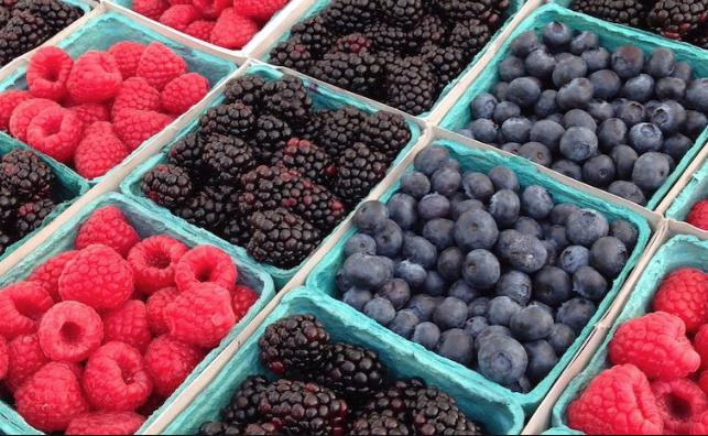 berries on more berries