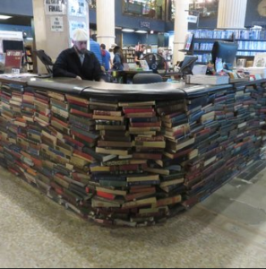 counter of books