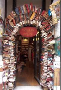 walkway of books