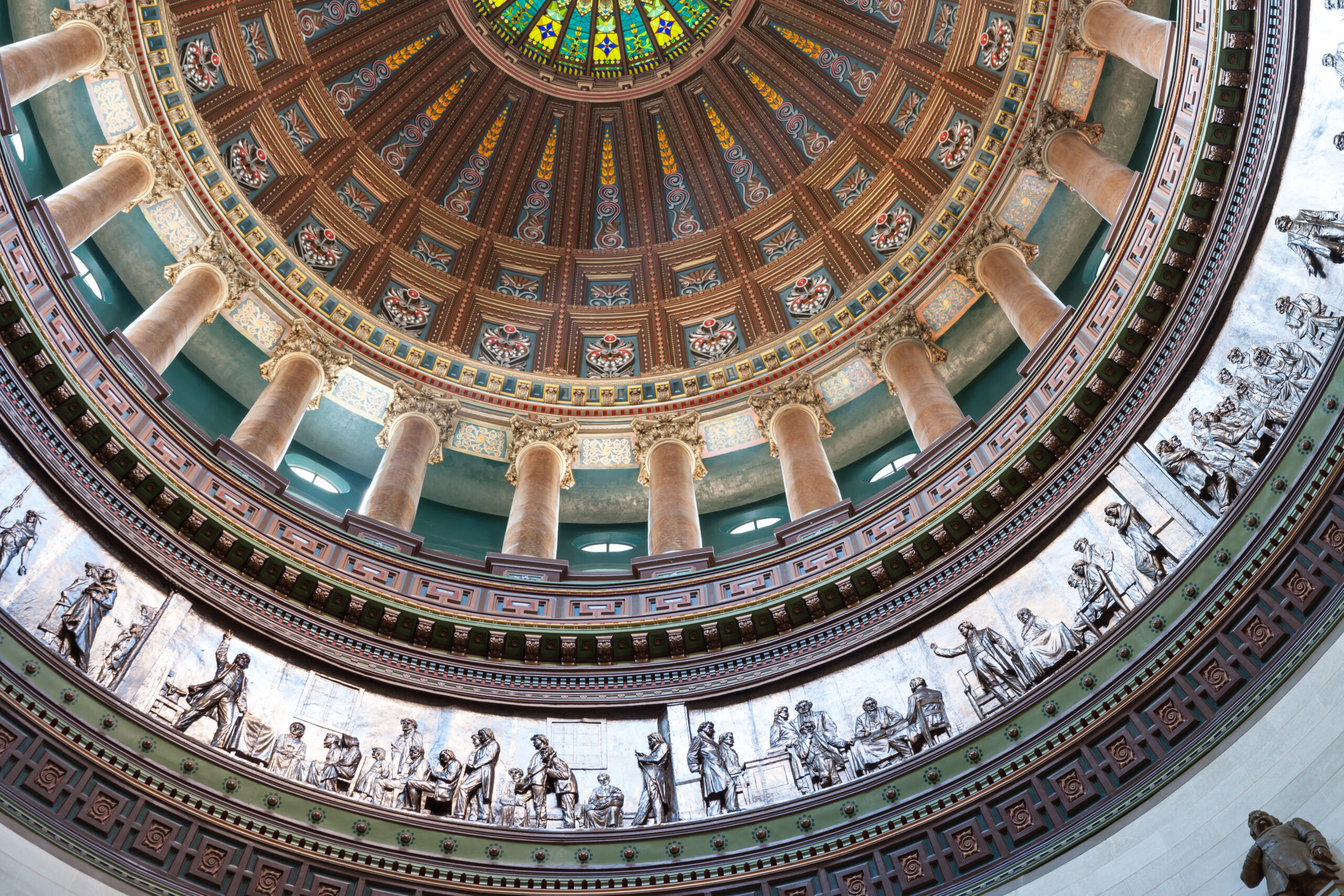 Ornate dome inside state capital building, Springfield, Illinois
