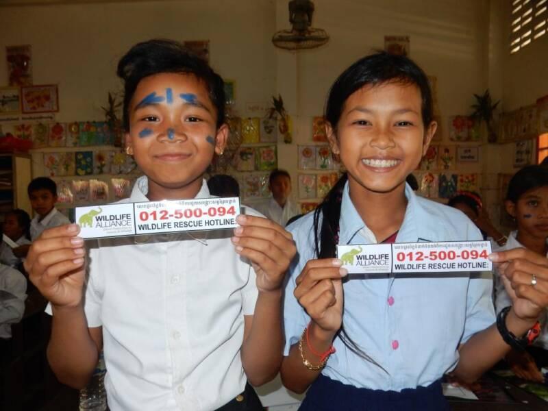 Kouprey Express Cambodia Wildlife AllianceEnvironment Education Project Activities primary school (8)