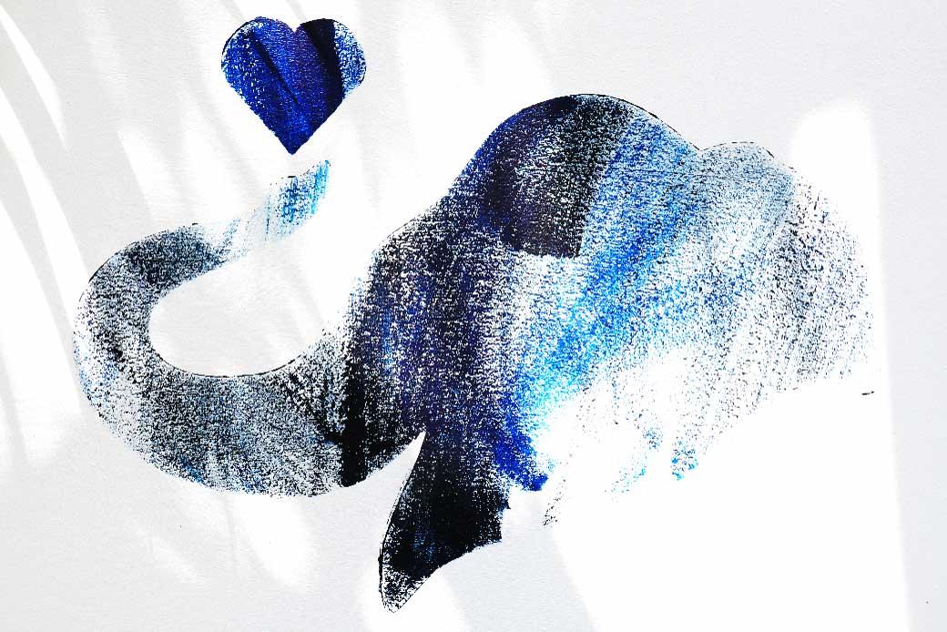 Lucky the elephant artwork Custom Stencil