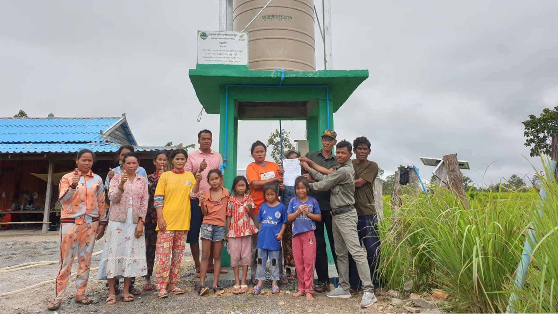 The Southern Cardamoms REDD+ Project brings water to villages in Cambodia