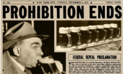 Newspaper of prohibition ending