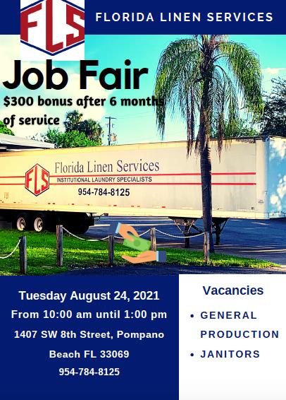 Florida Linens Job Fair
