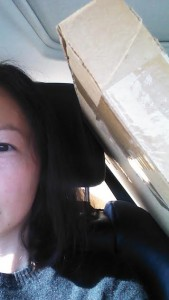 Here's half of Audra's face that one time we drove two hours with an Ikea box shoved between our heads. It was like being in confession. Except there was nothing to say because she already knew it all.