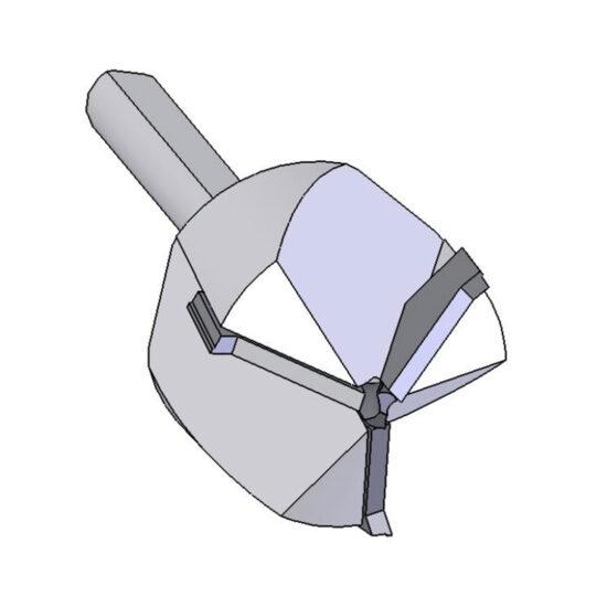 3 wing cone bit, carbide tipped