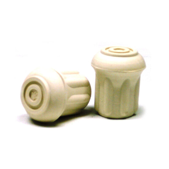 WHITE CRUTCH TIPS 1_2″ (Pack of 10)