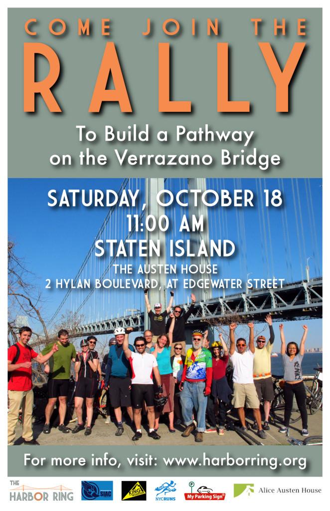 Rally for a Verrazano Bridge Pathway Poster jpg
