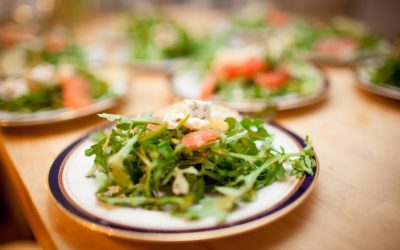 Arugula with Walnuts, Grapefruit, Blue Cheese and Lime Dressing