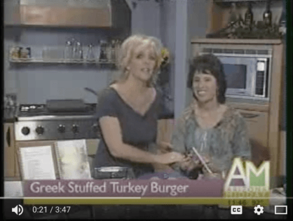 Greek Stuffed Turkey Burger