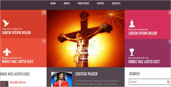 Church & Religious Bootstrap Website Template