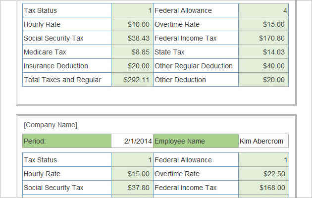 Payroll calculator with pay stubs