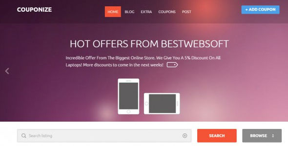 Responsive Coupons and Promo Theme