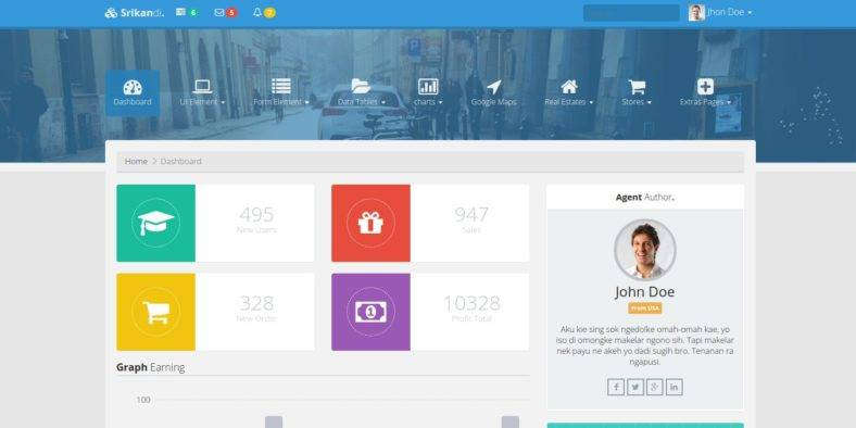 Bootstrap Dashboard and Admin Template