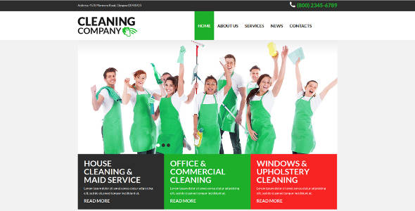 Cleaning Company Business & Services Joomla Template