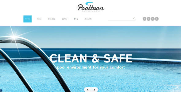 Pool Cleaning Business & Services Joomla Template