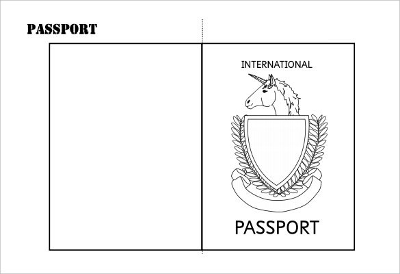 Simple Printable Double Sided Passport Writing Frame